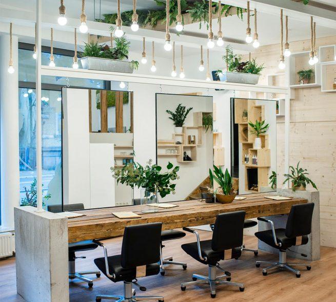 Green Frisierbereich Kundenplätze